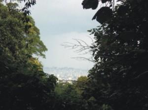 A primeira visão da cidade...